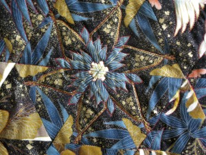 Jennie quilt flower blue