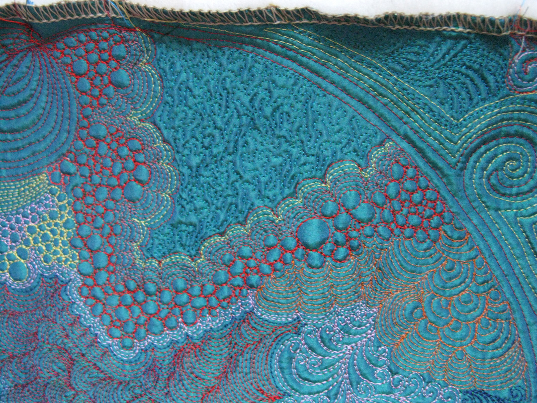 """Twilight in the Bronx"""" machine quilting – TerifiCreations by Teri ... : stippling a quilt - Adamdwight.com"""