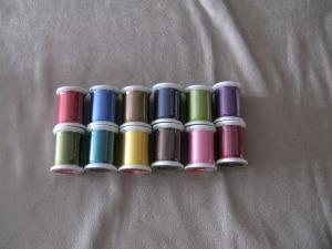 12 spools silk