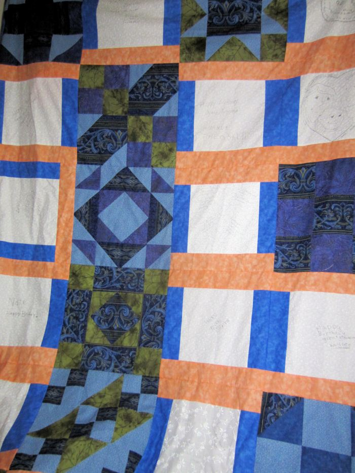 grammas quilt top