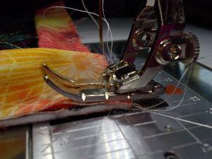 binding by machine corner quarter inch foot