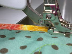 binding by machine dual feed engaged