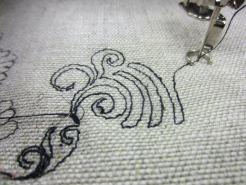 Aurifil Lino slub thread shred