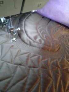 chocolate swirl stitching up a storm
