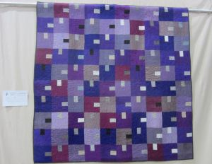 Silk Tempest Pieced & Quilted by Cherri House