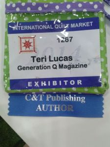 badge with author ribbon