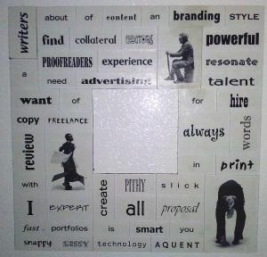 words on fridge writer