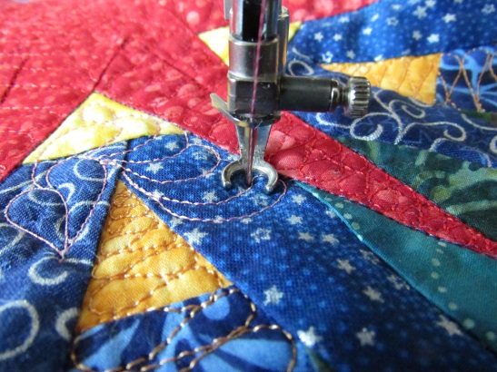 bury thread step fourteen keep quilting