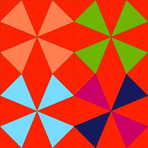 kaleidoscope block color
